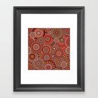 Mandala 156 (Floral) Framed Art Print