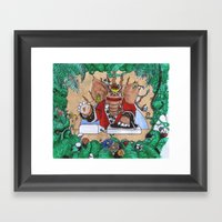 Natural Vibrations Framed Art Print