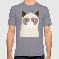 Grumpy Cat Mens Fitted Tee Slate SMALL