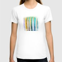 surfboards Womens Fitted Tee White SMALL
