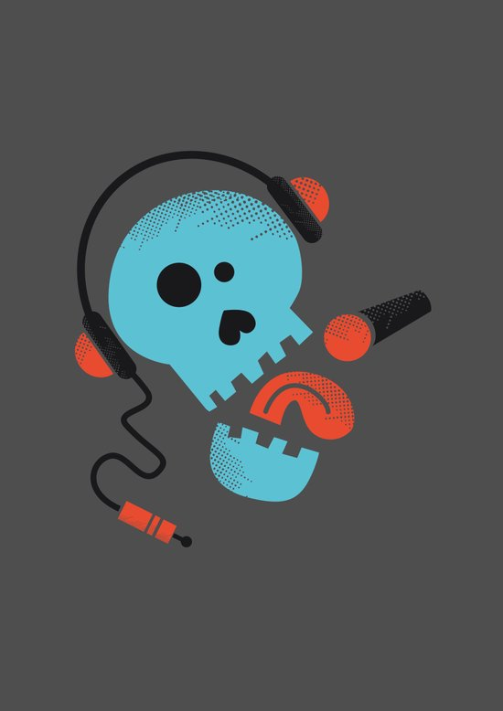 Calavera rockera / Rocking skull Art Print
