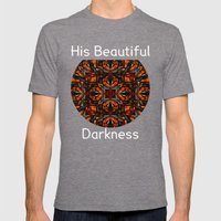His Beautiful Darkness Mens Fitted Tee Tri-Grey SMALL