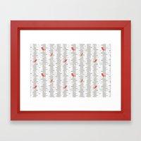 Birch Birds Framed Art Print