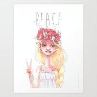 Hippie Art Print