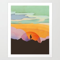 I Like to Watch the Sun Come Up Art Print