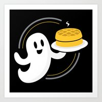 Ghost Waffles (Podcast) Art Print
