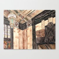 Inside The Art Deco Spac… Canvas Print