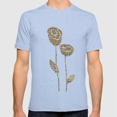 PAPERCUT FLOWER 5 Mens Fitted Tee Athletic Blue SMALL