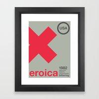 eroica single hop Framed Art Print