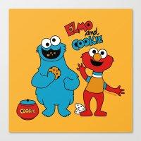 Elmo & Cookie Fan Art Canvas Print