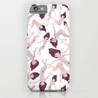 iPhone Cases featuring Naked Ladies Pattern by Esthera Preda