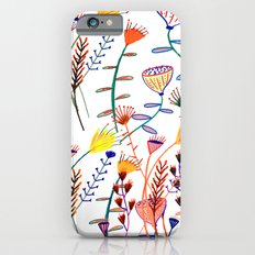 Flowers - floral - flowers - pattern  Slim Case iPhone 6s