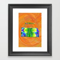 Kansas Map Framed Art Print