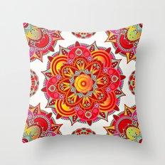 Root Chakra Mandala Throw Pillow