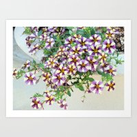 Pretty Petunias Art Print