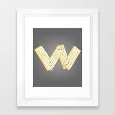 Alphabet W Framed Art Print