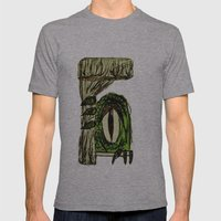 Green Monster Mens Fitted Tee Athletic Grey SMALL