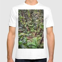 Rainforest Jungle Mens Fitted Tee White SMALL
