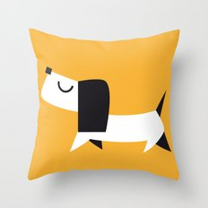 Yelow Dog Throw Pillow