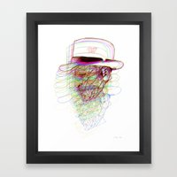 Happy Hat Framed Art Print