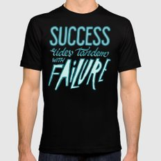 Success Rides Tandem Mens Fitted Tee Black SMALL