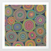 Boho Patchwork-Eden Colo… Art Print