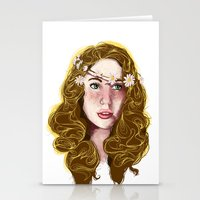 Flowers In Your Hair.... Stationery Cards