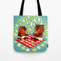 Picknick Bears Tote Bag