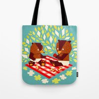 picknick bears Tote Bag