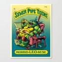 SEWER PIPE TEENS: Morbid-LEO-bese Canvas Print