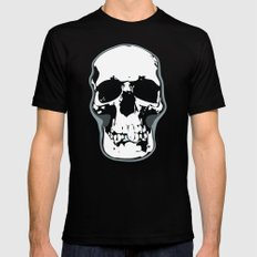 Skull Print SMALL Black Mens Fitted Tee