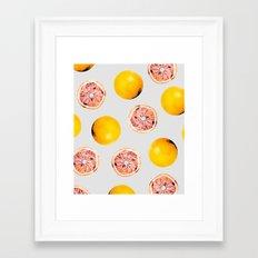 Grapefruit Pattern #society6 #decor #buyart Framed Art Print