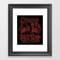 Genuine Band Framed Art Print
