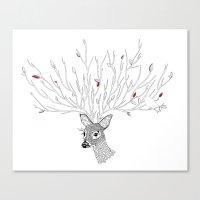 Doris Deer and Friends Canvas Print