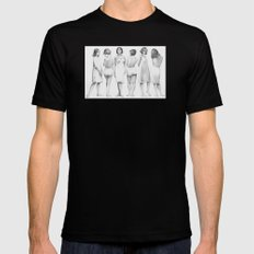 girls SMALL Mens Fitted Tee Black