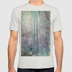 Free Falling Mens Fitted Tee Silver SMALL