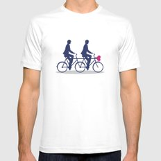 On Wheel Love Mens Fitted Tee White SMALL