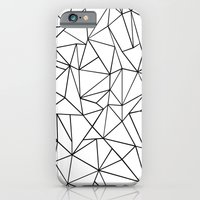 Abstract Outline Black on White iPhone 6 Slim Case