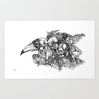 Animal Assembly Art Print