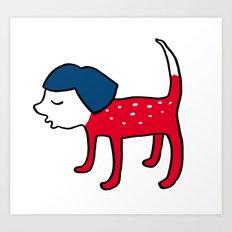 Dog-girl Art Print