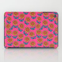 Floral mix pink sunflowers iPad Case