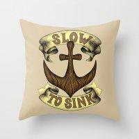 Slow To Sink Throw Pillow