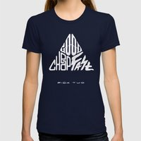 The Iron Triangle Womens Fitted Tee Navy SMALL