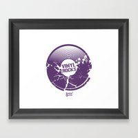 Vinyl Rocks Framed Art Print