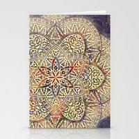 Gold Morocco Lace Mandala Stationery Cards