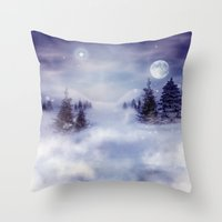 Winter Night Throw Pillow