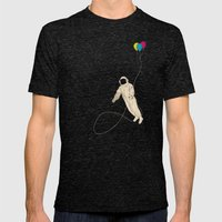 Astronaut Mens Fitted Tee Tri-Black SMALL