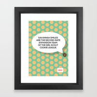 Savannah Smiles Framed Art Print