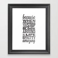 This Amazing Life Framed Art Print