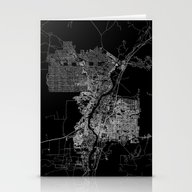 Albuquerque Map New Mexi… Stationery Cards